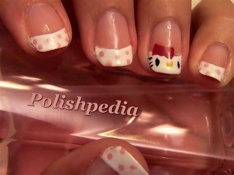 tutorial nail art hello kitty hello kitty nail art polishpedia nail art nail guide