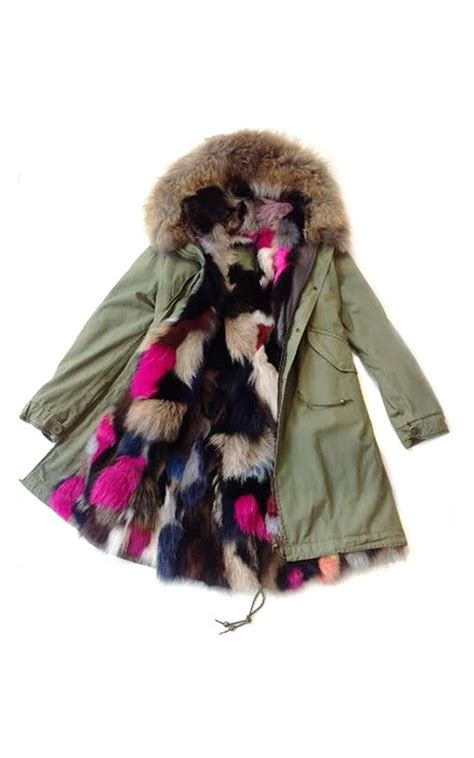 Mr Color C158 Italian mr mrs italy slim fit army parka lined in