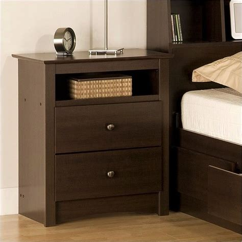 how tall should a nightstand be prepac fremont espresso tall night table contemporary