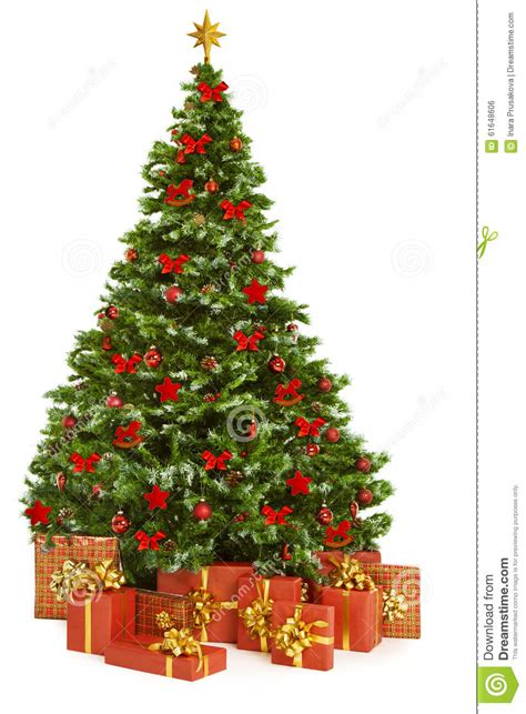 where to put christmas tree christmas tree and presents gifts xmas tree toys on white