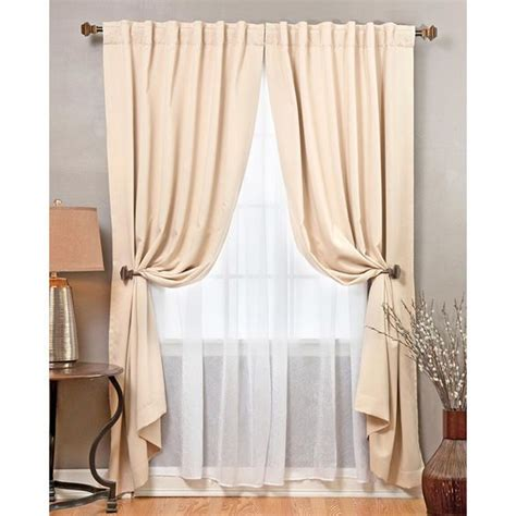 blackout voile curtains aurora home mix and match blackout with crushed voile