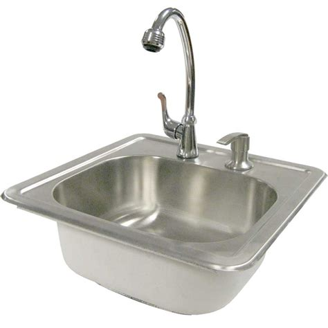 Outdoor Stainless Steel Sink cal 15 1 2 in outdoor stainless steel sink with faucet and soap dispenser shop your way