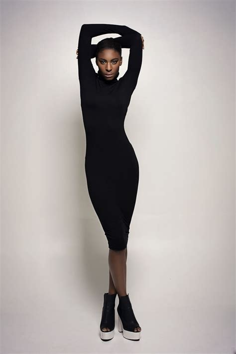 Dress Model Black Style Impor 46 length model pose black dress portrait ideas