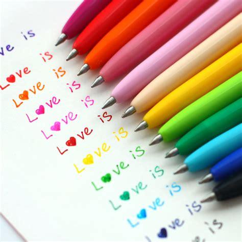 colored gel pens 12pcs lot kawaii color pens gel pen colored office and