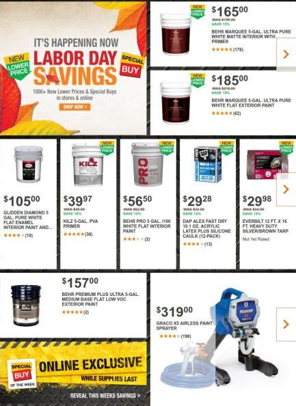 home depot paint labor day offer 35 home depot labor day deals 2017