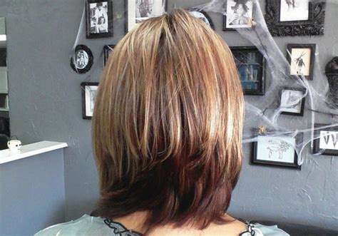 medium layered haircuts back view medium layered bob back view hairstyles short hairstyle 2013