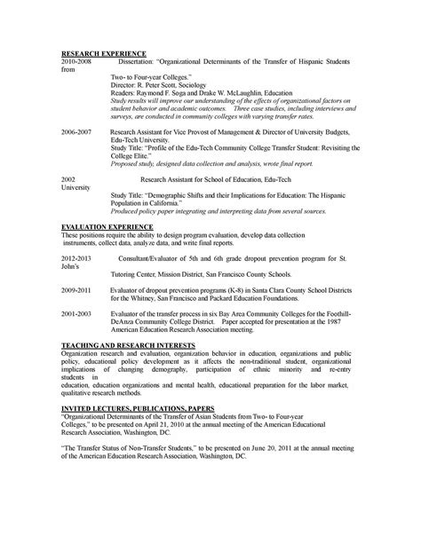 Cv In Education Curriculum Vitae Curriculum Vitae Template For Educators