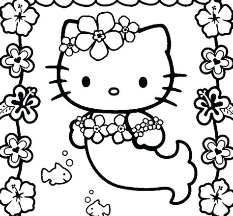 Large Coloring Pages To Print by Mermaid Coloring Pages Hello Mermaid Coloring Pages