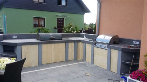 outdoor küche backsplash ideen outdoor mauern k 252 che
