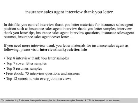Insurance Agency Thank You Letter insurance sales