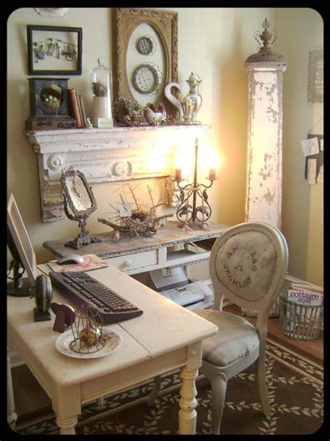 decorate a home office shabby chic style rustic crafts chic decor