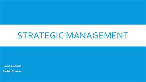 Bloomsburg Mba Strategic Info Tech Mgmt by Strategic Management