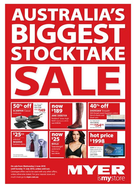 myer june stocktake sale by whatsonsale issuu