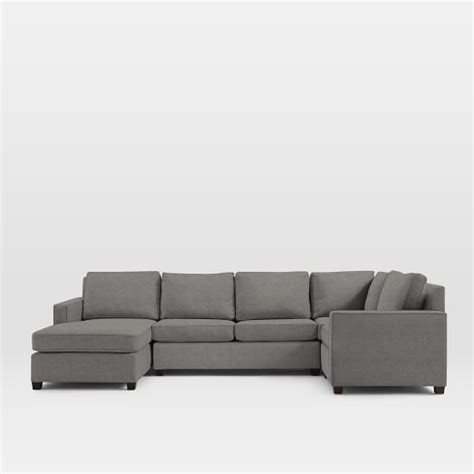4 piece sectional with chaise henry 174 4 piece chaise sectional 131 quot w west elm
