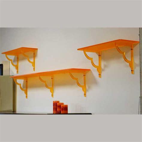 mensole in plexiglass mensole plexiglass con reggimensole traforate ludovic