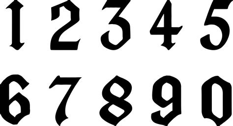 clipart numbers black  white clipart numbers black  white transparent