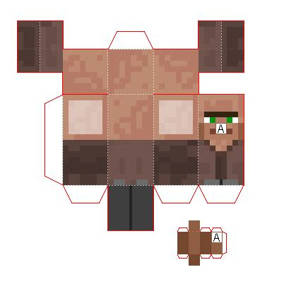 Advanced Papercraft - papercraft mini advanced villager minecraft