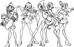 winx club coloring pages enchantix coloring
