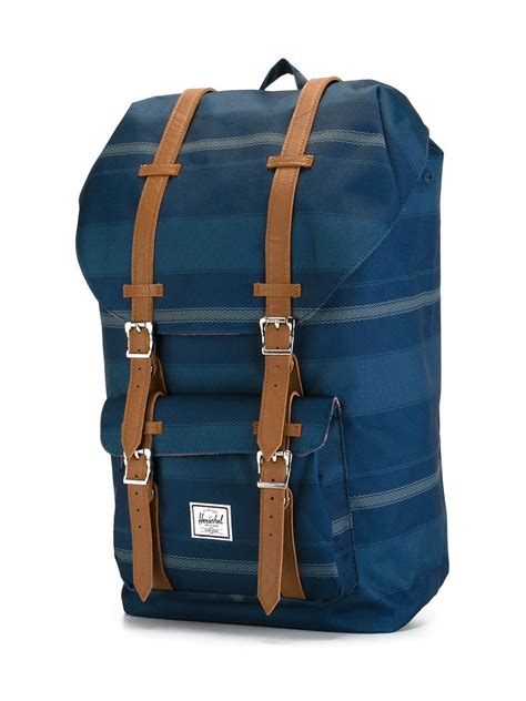 Striped Backpack lyst herschel supply co striped backpack in blue for