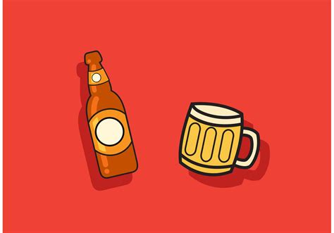 beer vector beer vector bottle and mug vector download free vector