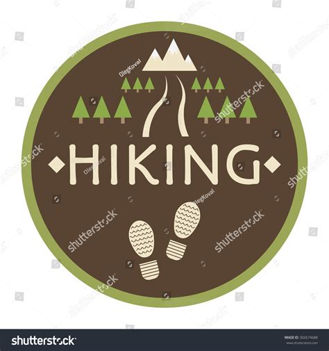 design icon trail vector logo hiking design icon travel stock vector