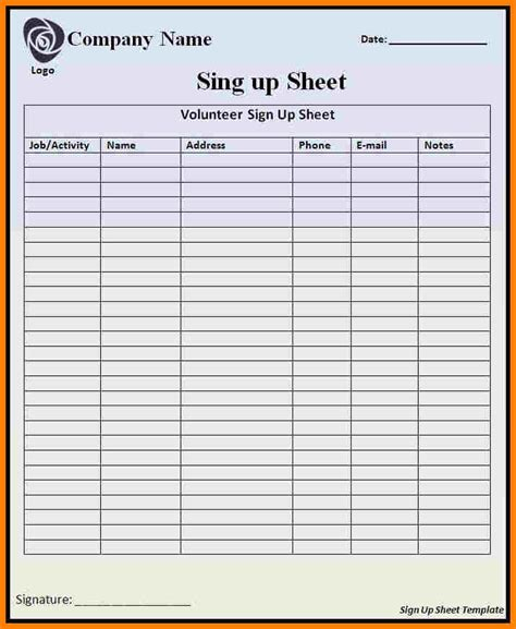6 Payroll Sign In Sheet Sles Of Paystubs Payroll Sign In Sheet Template