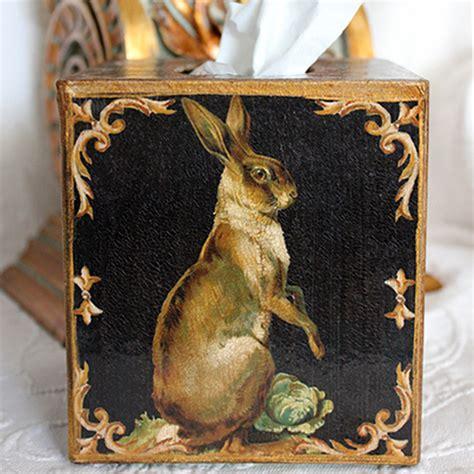 Vintage Design Tissue Box Tempat Tissue Antik Big Ben Standing Hare Tissue Box Cover Black