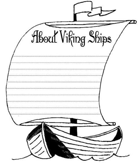 viking template free viking ship coloring pages