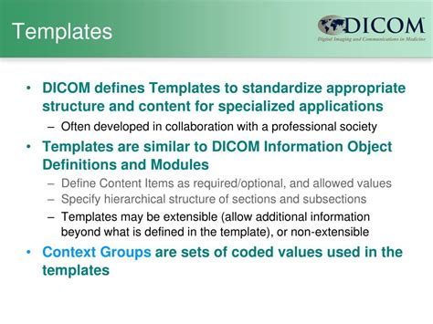 Dicom Structured Report Template