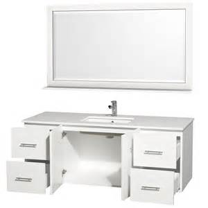 60 Vanity Modern Wyndham Collection Centra White 60 Quot Modern Single Sink