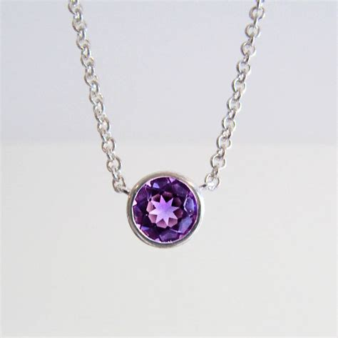 amethyst necklace by wue notonthehighstreet