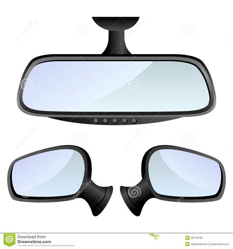 Mirror Decorations by Car Mirror Set Royalty Free Stock Images Image 28119199