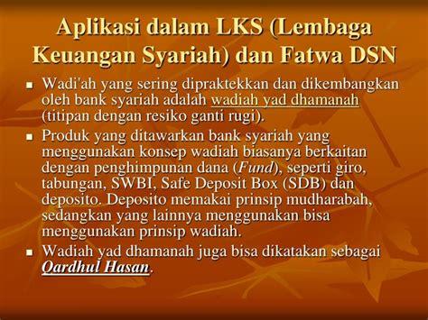 Himpunan Fatwa Keuangan Syariah 1 ppt wadiah qardh dan rahn powerpoint presentation id
