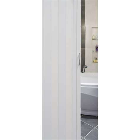 Concertina Doors Pillar Products 82 X 203cm White Monaco Pvc Concertina Door
