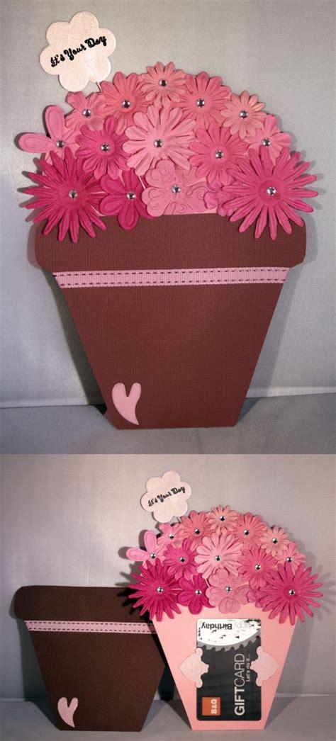 flower pot gift card holder template gift card mullen crafts
