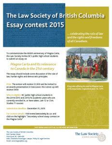 Laws Of Essay Contest by Lsbc Clicklaw