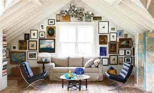 How To Decorate Slanted Ceilings How To Decorate A Wall With Pictures