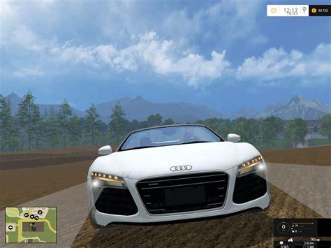 Audi R8 Spyder Car V 1.0 Farming Simulator 2017 mods, Farming Simulator 2015 mods, FS 2015, LS