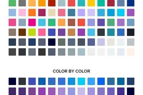 color swatches 100 flat color swatches creative stall