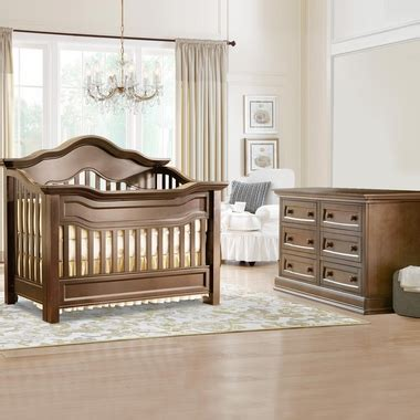 Baby Appleseed Millbury Crib Baby Appleseed Millbury 2 Nursery Set Convertible Crib And Dresser In Coco Free