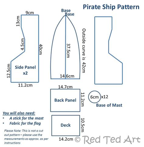 pirate ship template myideasbedroom com