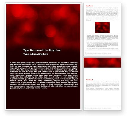 Word Report Templates Free Abstract Abstract Lights Word Template 05894 Poweredtemplate