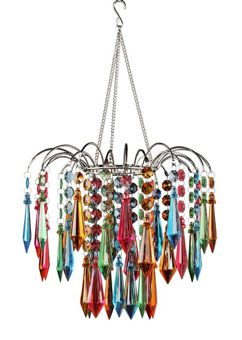Multi Color Chandelier Faceted Waterfall Chandelier Multi Colored