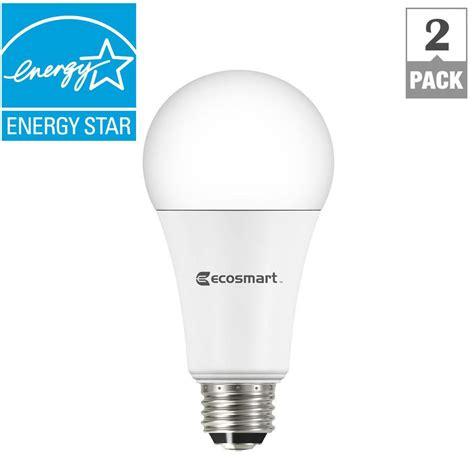 3 way led light bulb ecosmart 65w equivalent daylight br30 dimmable led light