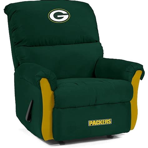 green bay packers recliner 17 best images about packer room on pinterest chrome