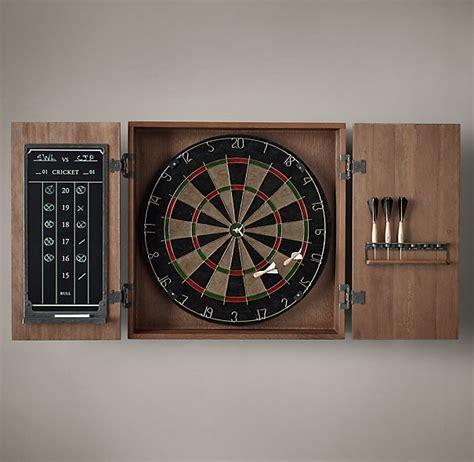 classic dart board cabinet restoration hardware tournament darts board the coolector