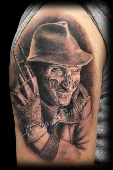 krueger tattoo freddy krueger on half sleeve