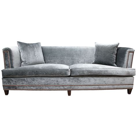 Velvet Loveseat Sofa velvet sofa at 1stdibs