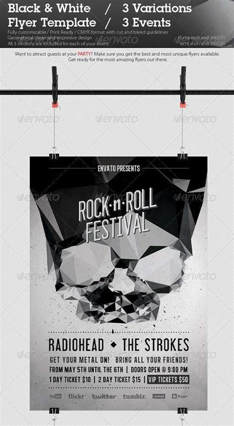 Top 10 Best Black And White Psd Flyer Templates To Download Club Party Flyer Template Black And White