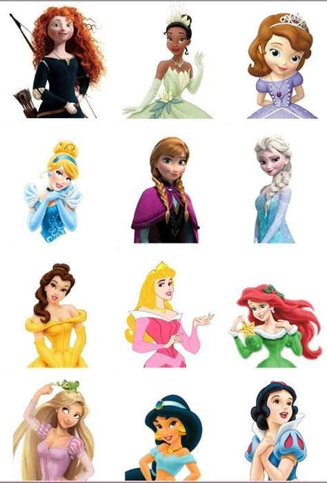 printable 12 mixed disney princess party cup cake toppers resultado de imagem para disney princess cupcake toppers